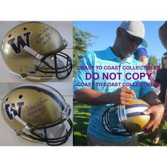 f56873d8b6f Warren Moon, Washington Huskies, 1982 Rose Bowl Mvp, Signed, Autographed,  Schutt Full Size Helmet, a Coa with the Exact Proof Photo of Warren Signing  the ...