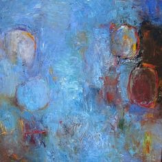 Oil painting 36 x 36 inches Circles, Paintings, Oil, Blue, Paint, Painting Art, Painting, Painted Canvas, Drawings