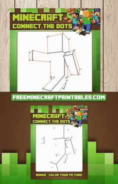 Minecraft printables with coloring pages and invitations Minecraft