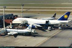 Boeing 747-300 (PP-VNI) e 737-300 | Varig | Cumbica (São Paulo) | 1998