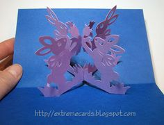 Extreme Cards and Papercrafting: Easter Rabbit Magic X Pop Up Card very nice design to learn