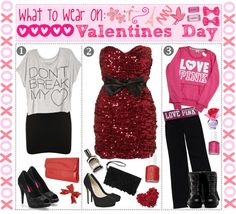 """&& Tip 32:,, What To Wear On Valentines Day! ♥"" by xoxo-tipgirls ❤ liked on Polyvore"