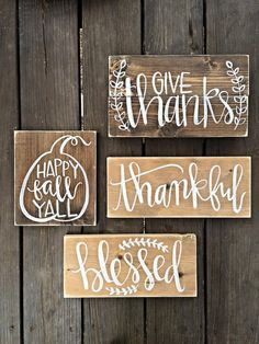Fall decor wooden signs