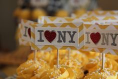 Cupcake Toppers nyc theme birthday