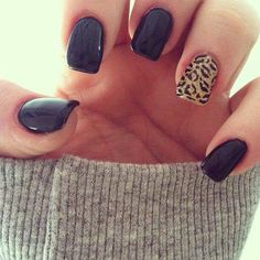 Black and gold leopard.
