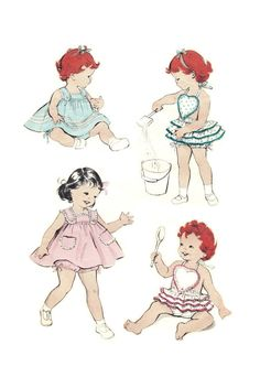 Butterick 7667 Vintage 50s Adorable Toddler by PatternPlaying, $20.00