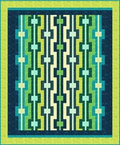 "Nice and simple:  ""Harmony"" quilt pattern in Artisan Batiks.  Designed by Toadusew Creative Concepts."