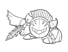 Coloring Pages Kirby Meta Knight Coloring Pages New 52