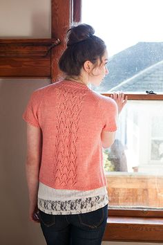 Strand Hill Lace Cardigan - Knitting Patterns and Crochet Patterns from KnitPicks.com by Edited by Knit Picks Staff On Sale