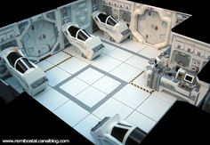 miniature Star Wars sets - Rémi Bostal, designer illustrator