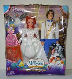 The Little Mermaid Spec Ed Royal Wedding Giftset Ariel Prince Eric Dolls | eBay