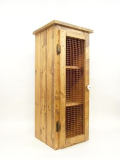 Pie Safe; Rustic Cabinet; Handmade from Pallet Wood - pinned by pin4etsy.com
