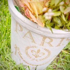 DIY - Maceta de barro reciclada.