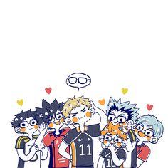 Watch Haikyuu, Haikyuu Funny, Haikyuu Manga, Haikyuu Fanart, Haikyuu Tsukishima, Haikyuu Characters, Anime Characters, Anime Chibi, Anime Manga
