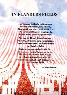 in flanders fields - john mccrae 1917 Remembrance Day Quotes, Remembrance Day Poppy, Facebook Image, For Facebook, Patriotic Images, The Mind's Eye, After School Club, Flanders Field, Anzac Day