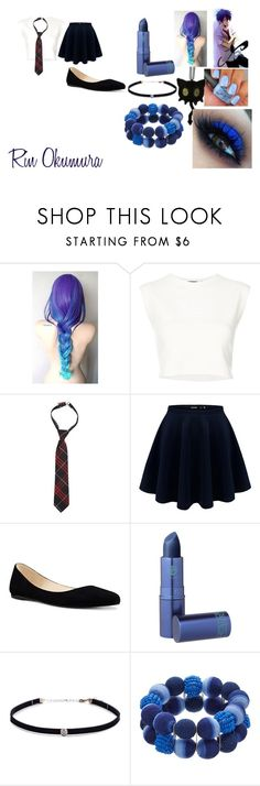 """""""Blue exorcist"""" by getjinxed205 on Polyvore featuring Puma, French Toast, Nine West, Lipstick Queen and Carbon & Hyde"""