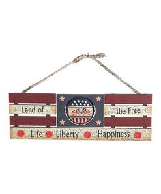 Land of the Free Wood Sign by Transpac Imports on #zulily