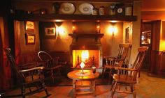 Can you think of anything cozier than snuggling up to this quant fire in Bushmill's Inn in County Antrim?