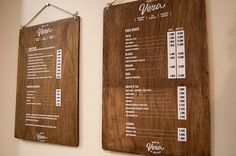 Vera by El Calotipo, via Behance. wood & white signs