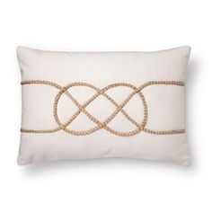 Knotted Rope Oblong Decorative Pillow (14