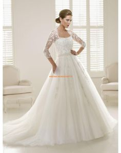 RONALD JOYCE Glamouröse Dramatische Bodenlange Brautkleider aus Softnetz