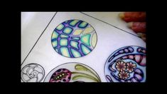 Color pencil tutorial, zentangle inspired art, color blending . Part three