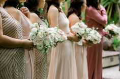 Bridemaids and Bouquets Bridesmaid Dresses, Wedding Dresses, Spring Day, Wedding Styles, Bouquets, Wedding Day, Elegant, Floral, Flowers