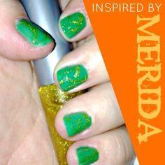 Fun! How To Paint Merida Inspired Nails #Brave #Disney #Merida