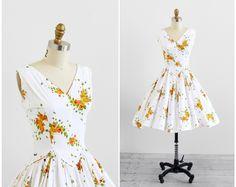 vintage 1950s dress / butterfly dress / 50s by RococoVintage, $168.00