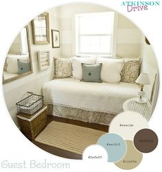 I love this color theme! A bit more blue and there's my color scheme for the living room!