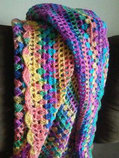 Rainbow crochet shawl, triangular multicolor womens ahawl, scarf or wrap, very soft luxurious feeling, COLOR CHOICE