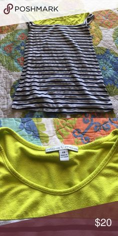 Green and Blue Striped top worn but in good condition Moa Moa Tops Tees - Short Sleeve