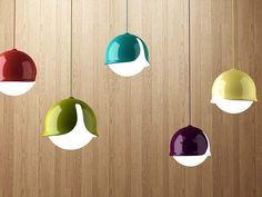 Lámparas Snowdrop, en aluminio y vidrio, de Stone Designs, inspiradas en las campanillas.