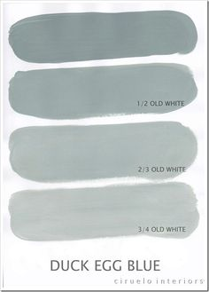 Mixing Annie Sloan Chalk Paint.  ALL colors are here. Duck Egg Blue og Old White by barbara.d.may