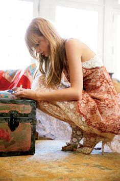 (Open) Taylor)) I'm in my room writing down ideas for a song when you knock on my door. I put my pen down and walk over to the door. I open the door and see you. (cont.)