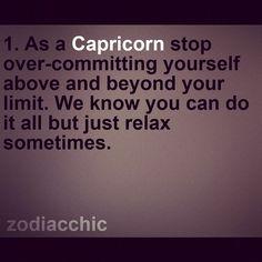 Advice for capricorns