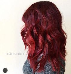 #Regram: Ruby red beauty by @justinecavehair!