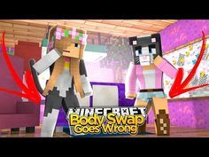 Minecraft - Little Kelly : BODY SWAP GOES WRONG! w/Cassie the Cat - YouTube