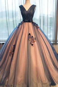 Vogue Brown Prom Dresses,Sleeveless Prom Dresses, Applique Evening Dresses,#promdresses #eveningdresses #longeveningdresses #longpromdresses