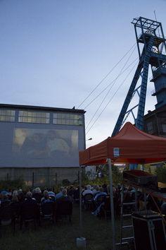open-air cinema next to Krystyna Shaft │kino plenerowe przy Szybie Krystyna │ Bytom