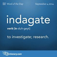 INDAGATE. #VocabularyBoost