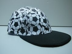 Soccer Baseball Caps - Crumple Caps