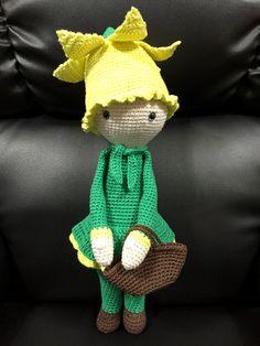 Narciso Nancy flor made by Estrella R M - patron de crochet de Zabbez
