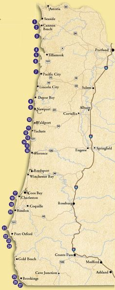 Tidepool Map for Oregon Coast- Will need this when the beau's mom and I go on our trip