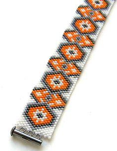 Яркий браслет из бисера с авторским орнаментом   Украшения из бисера от Anabel
