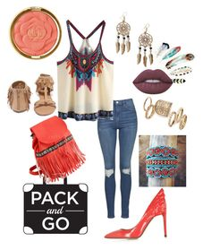 """pack and go"" by stephenierae ❤ liked on Polyvore featuring Topshop, Qupid, Valentino, Milani, Boohoo and Lime Crime"