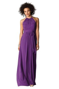 After Six 6613 Bridesmaid Dress in Plum in Chiffon