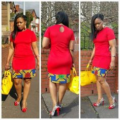 Beautiful Plain And Patterned Ankara Designs 2019 African Dresses For Women, African Print Dresses, African Attire, African Wear, African Women, African Fashion Ankara, Ghanaian Fashion, African Print Fashion, Fashion Prints