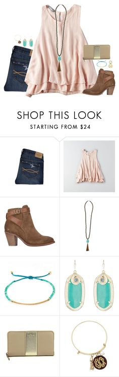 """an onion forces you to cry over it's dead body"" by kaley-ii ❤ liked on Polyvore featuring Abercrombie & Fitch, American Eagle Outfitters, H by Hudson, Tai, Kendra Scott and Kate Spade"