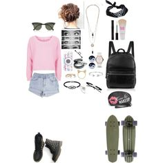 typical day by brianna4481 on Polyvore featuring polyvore, fashion, style, Topshop, Elizabeth and James, MARC BY MARC JACOBS, Wet Seal, Jewel Exclusive, Tai, Ruifier, Aamaya by priyanka, Daisy Jewellery, Bling Jewelry, ASOS, Accessorize, Ray-Ban, Maybelline, Mary Kay, Amici Accessories and Gucci